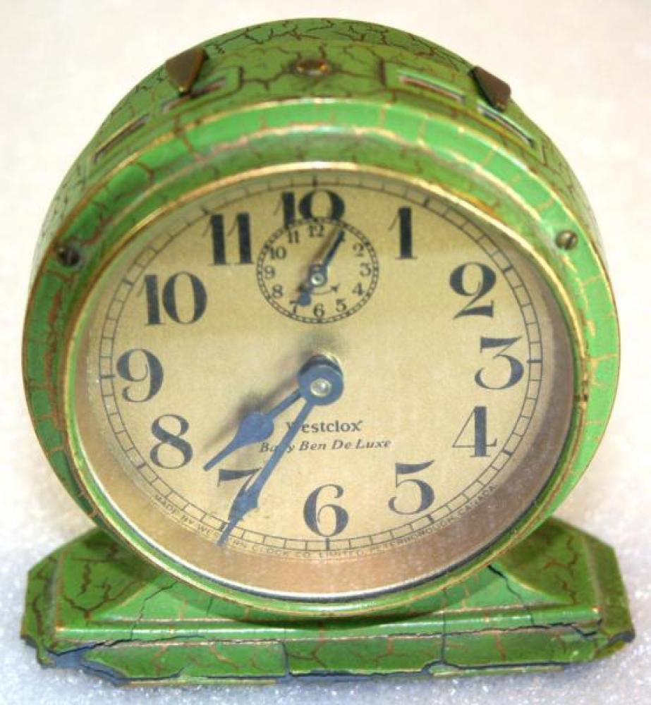 Westclox 1920s Baby Ben De Luxe  (Green) Alarm Clock
