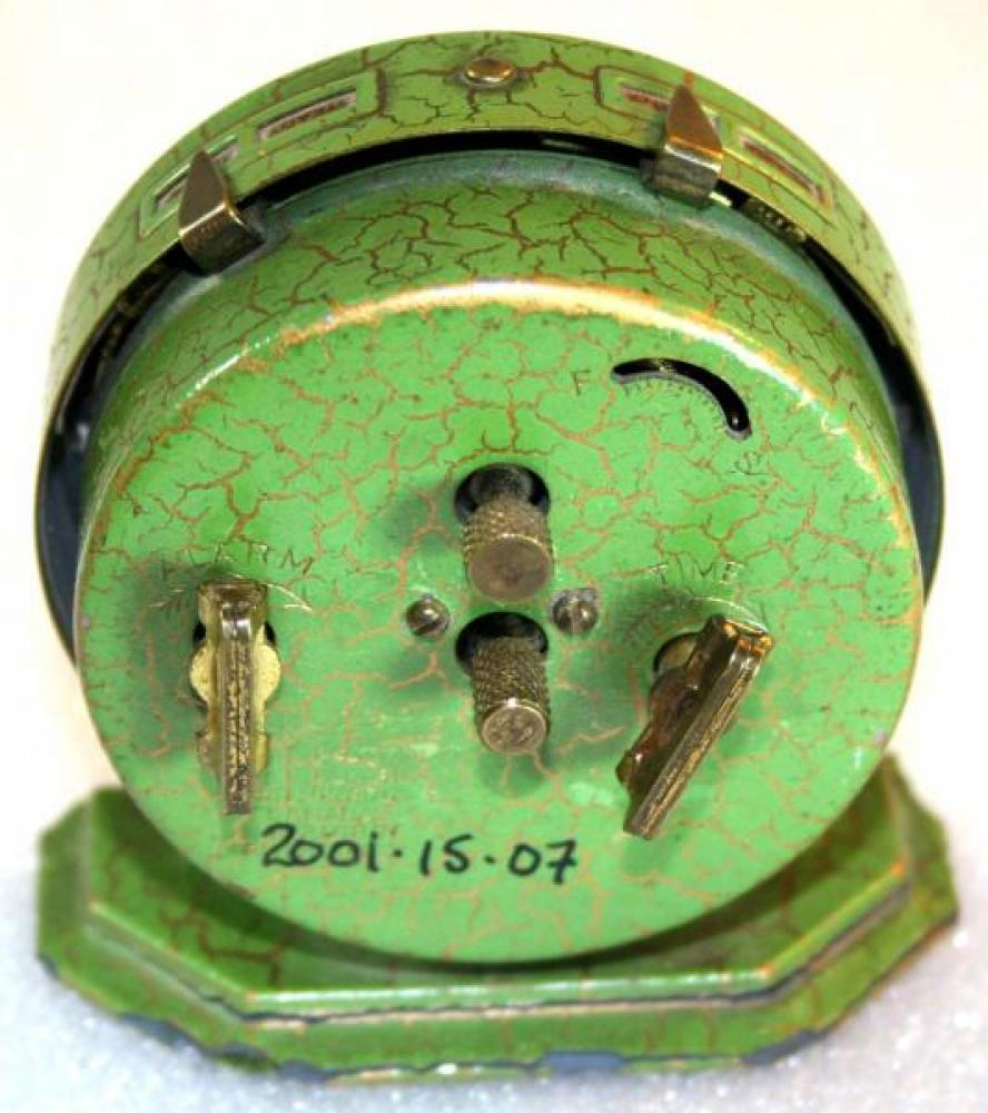 Westclox 1920s Baby Ben De Luxe (Green) Alarm Clock (Backside View)