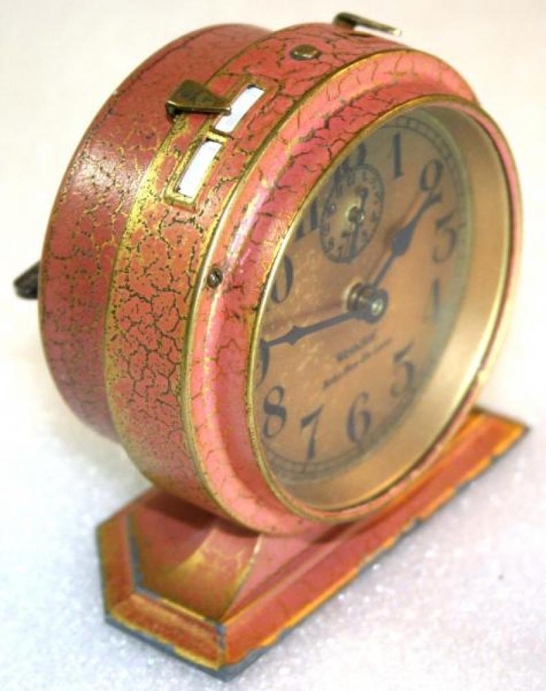 Westclox 1920s Baby Ben De Luxe  (Red) Alarm Clock (Side View)