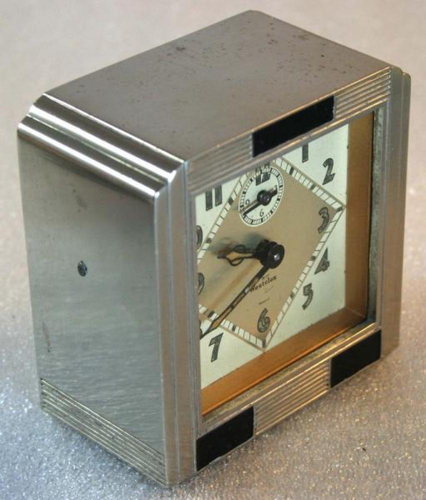 Westclox 1930s La Salle Dura metal case Alarm Clock (Side View)