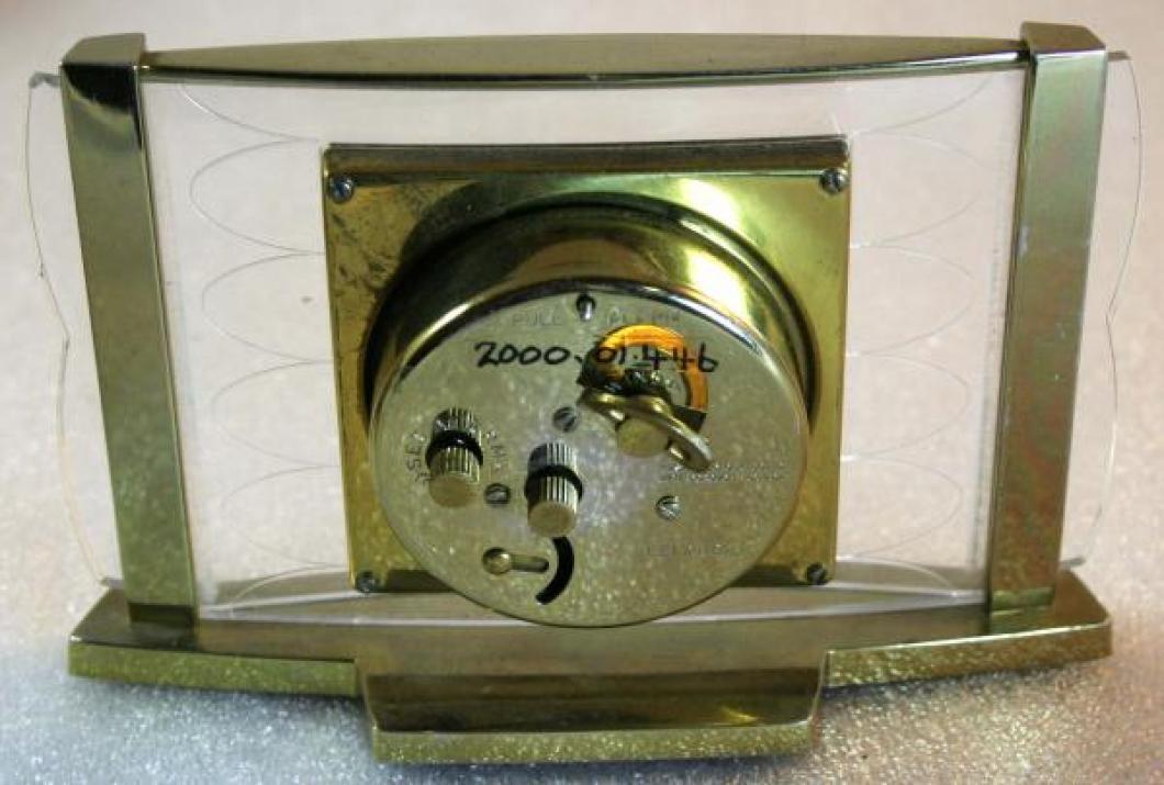 Westclox 1950s Leland Alarm Clock (Backside View)