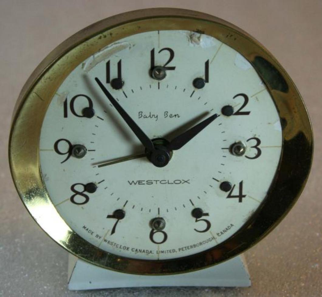 Westclox 1970s Baby Ben (Braille) Alarm Clock