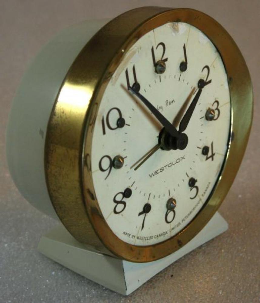 Westclox 1970s Baby Ben (Braille) Alarm Clock (Side View)