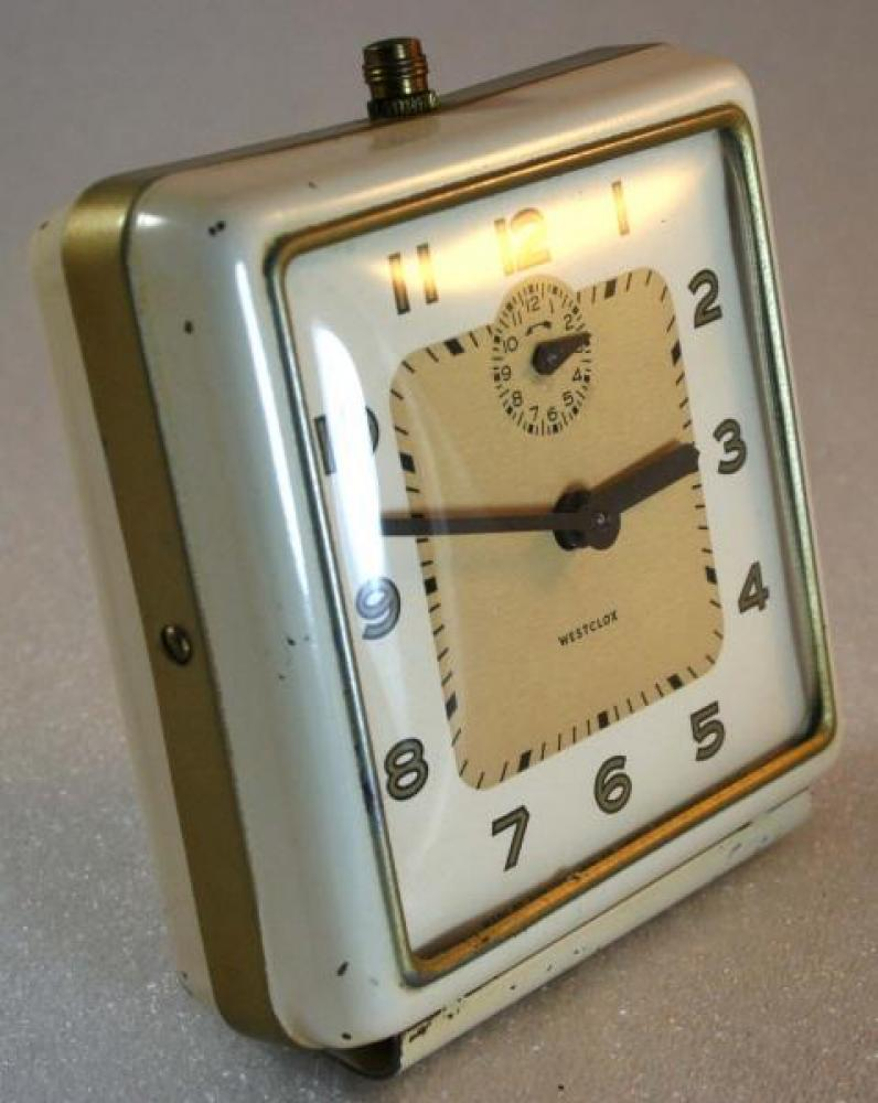 Westclox 1948-1956 Bellboy Alarm Clock (Side View)