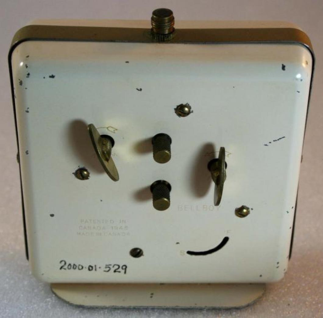 Westclox 1948-1956 Bellboy  Alarm Clock (Backside View)