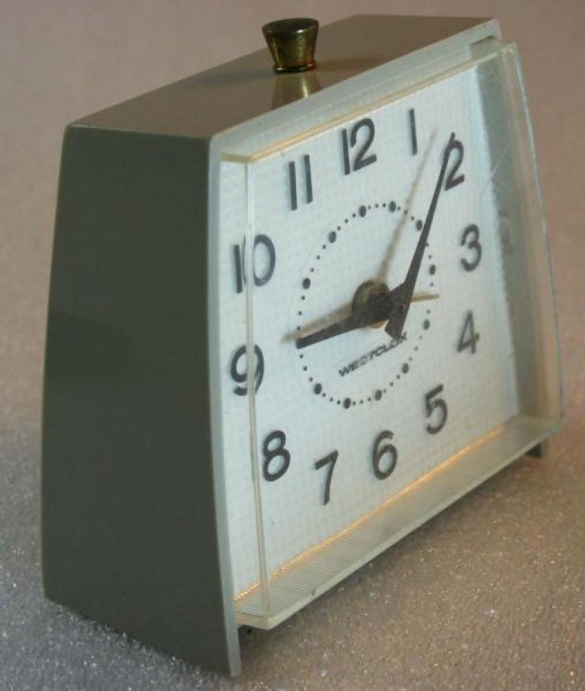Westclox 1960s  Fayette Alarm Clock (Side View)