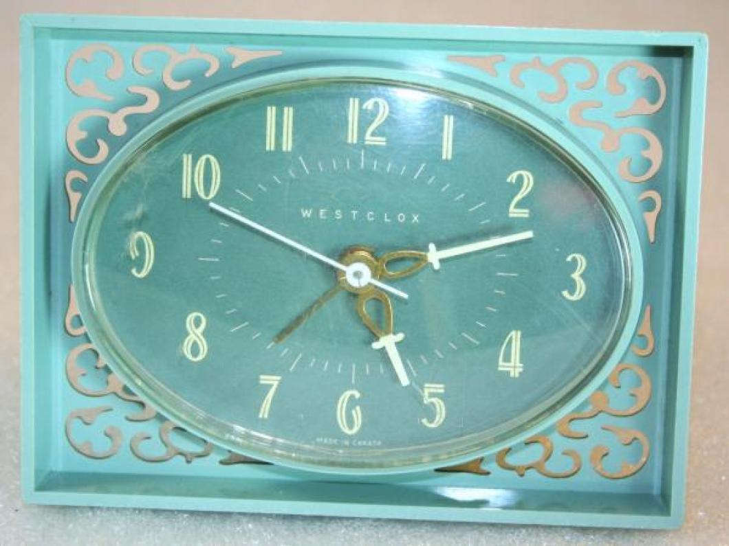 Westclox 1950s Lace Alarm Clock