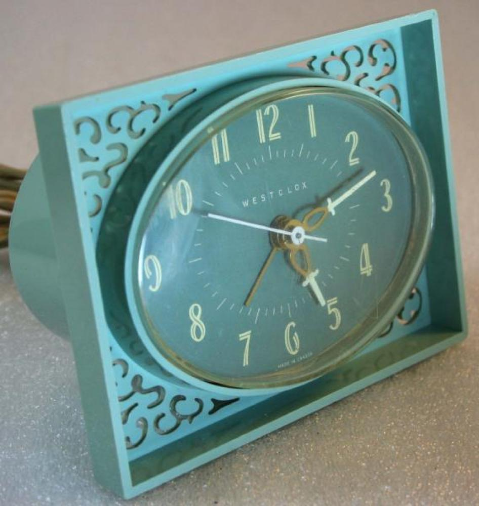 Westclox 1950s Lace Alarm Clock (Side View)
