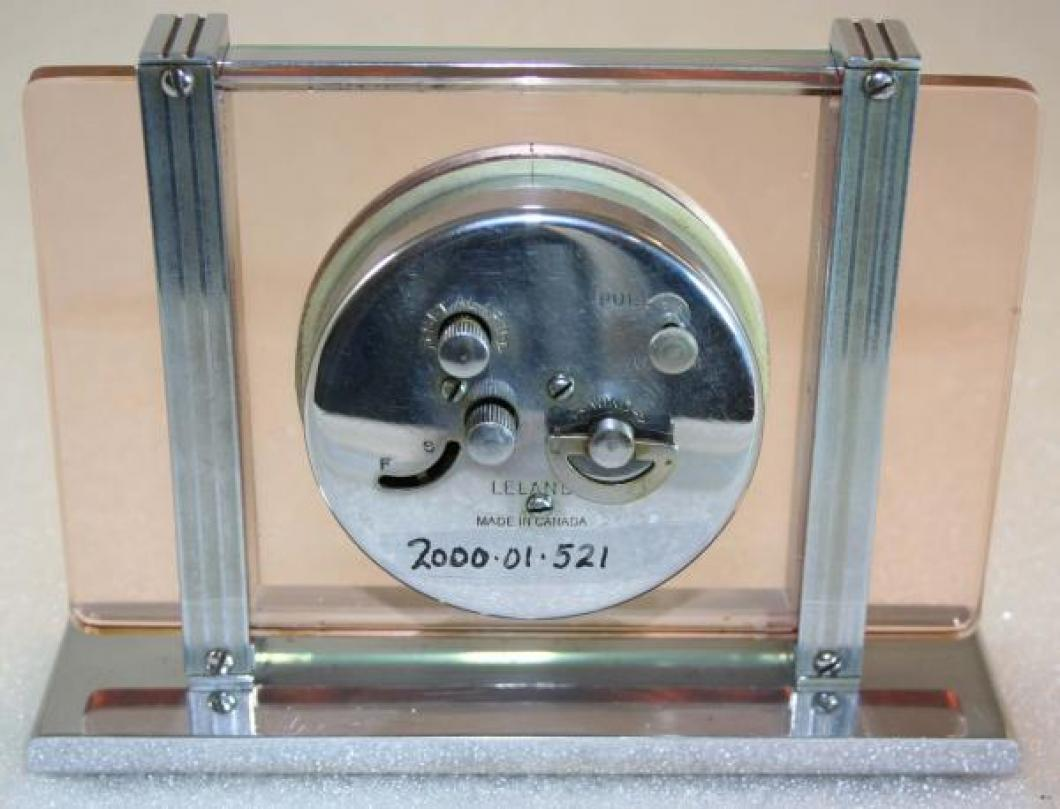 Westclox 1930s Leland Alarm Clock (Backside View)