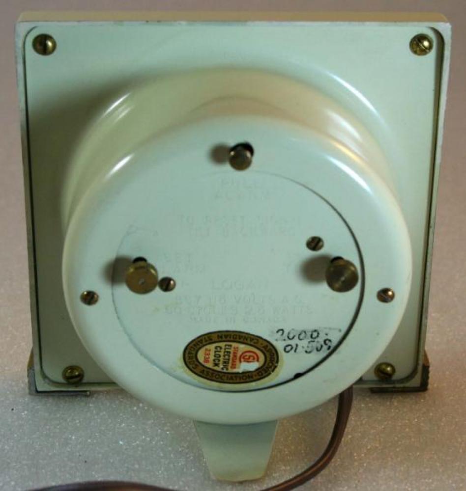 Westclox 1940s Logan Alarm Clock (Backside View)