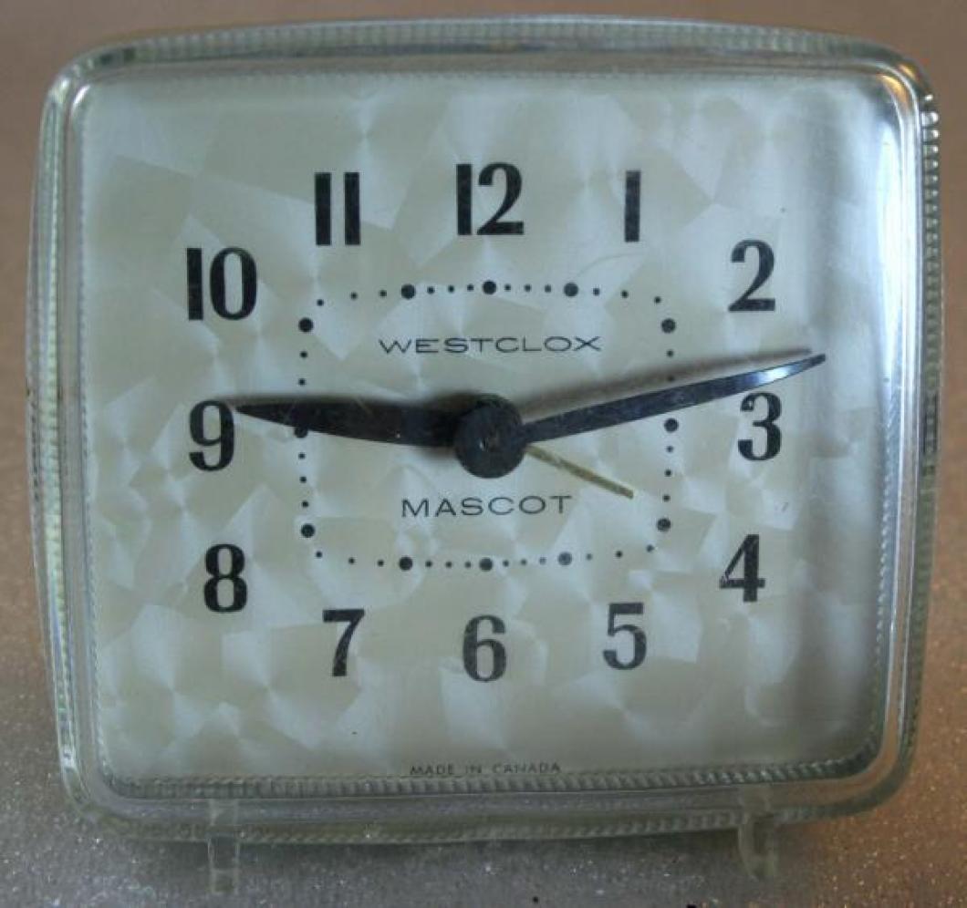 Westclox 1950s Mascot Alarm Clock