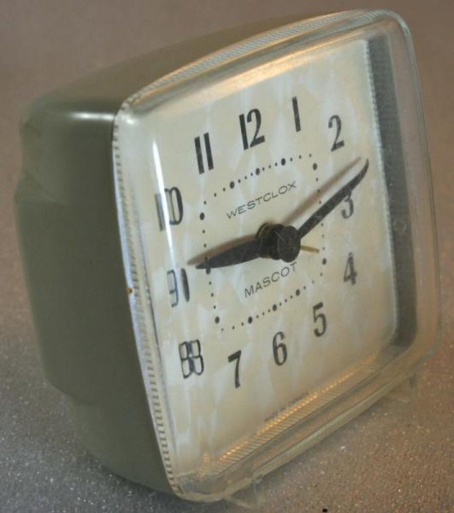 Westclox 1950s Mascot Alarm Clock (Side View)