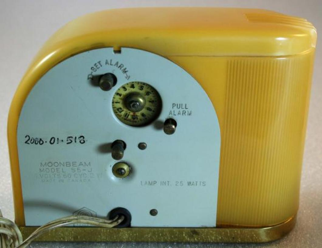 Westclox 1940s Moonbeam Alarm Clock (Backside View)