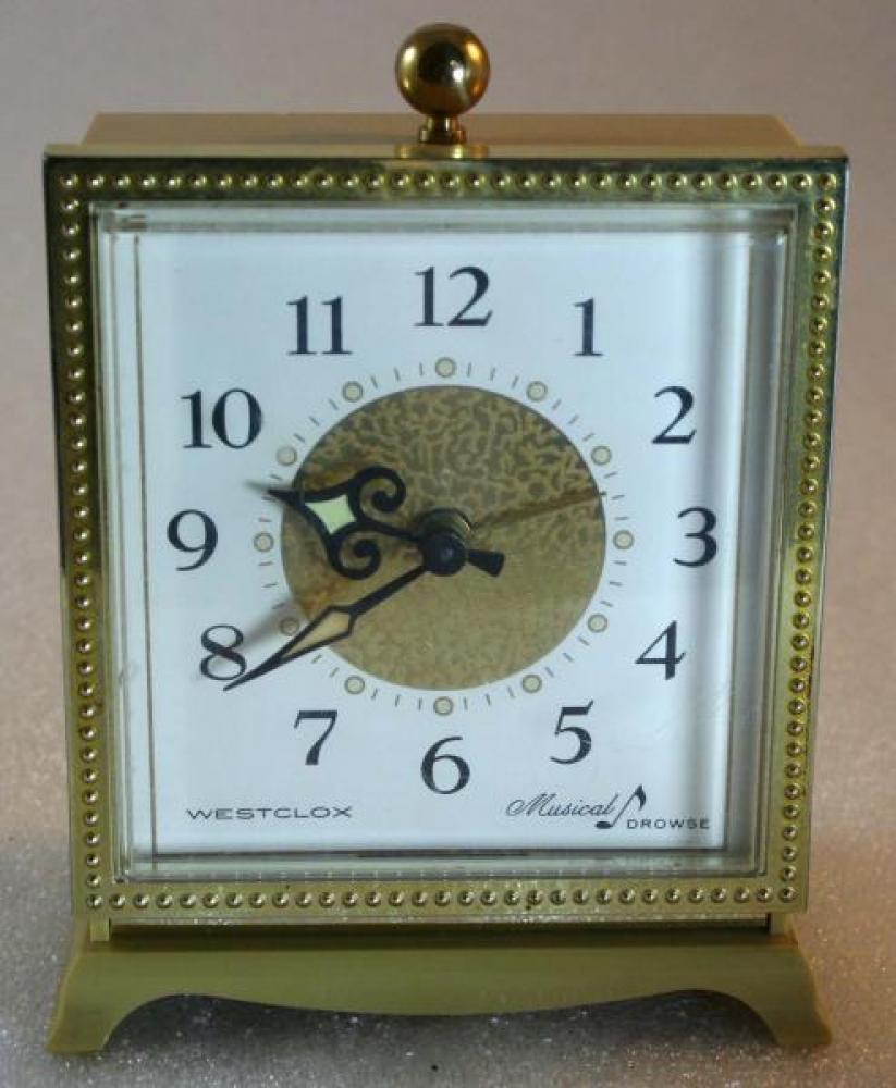 Westclox 1960s Musical Drowse Alarm Clock