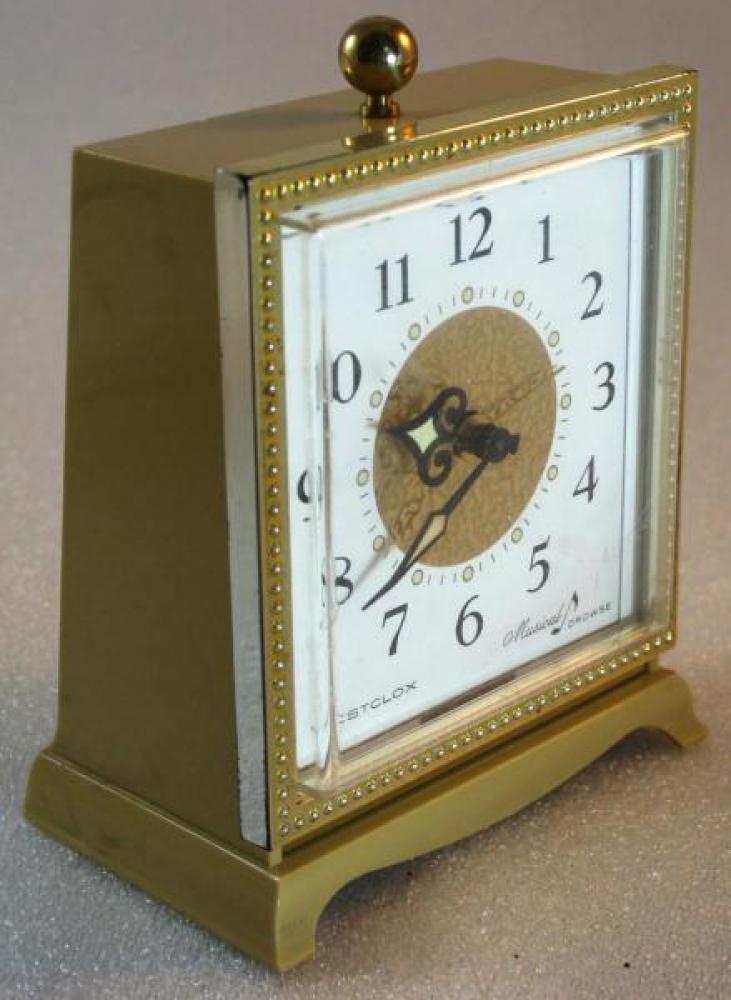Westclox 1960s Musical Drowse Alarm Clock (Side View)