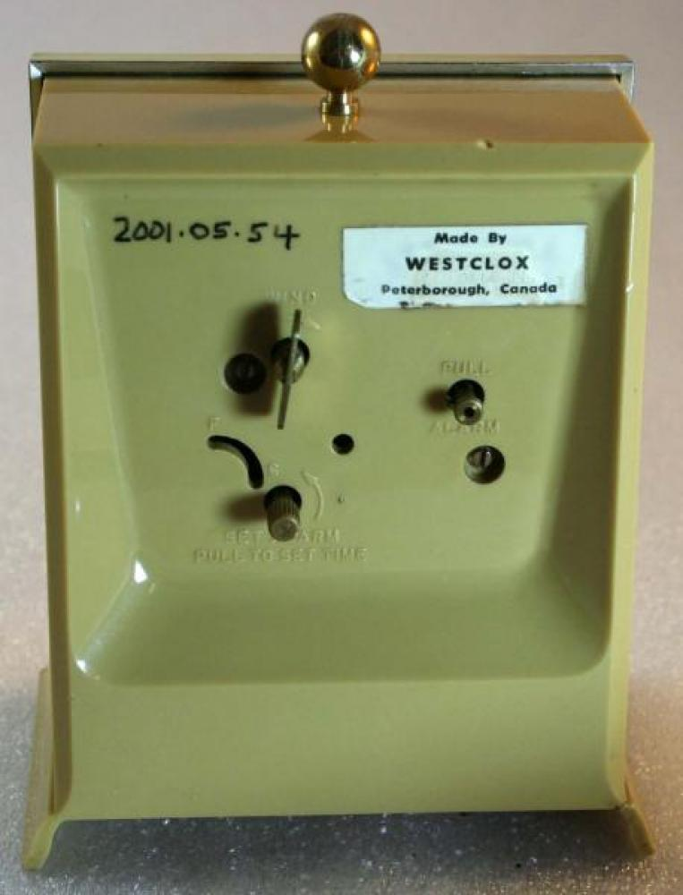 Westclox 1960s Musical Drowse Alarm Clock (Backside View)