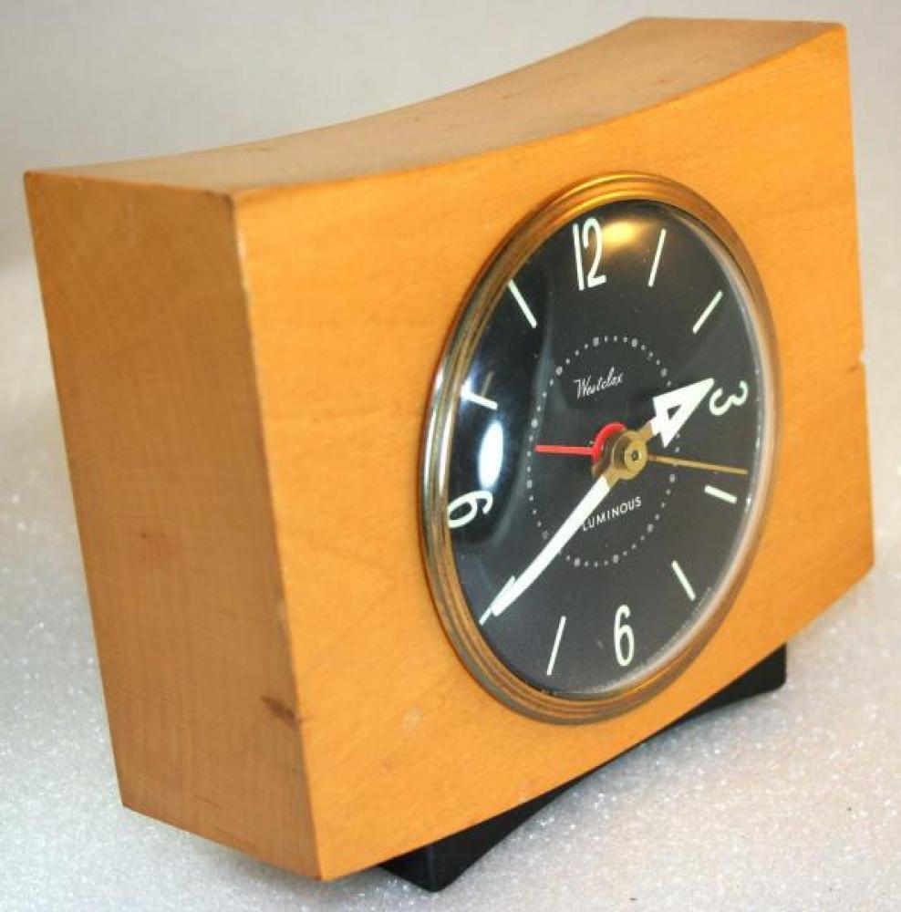 Westclox 1950s Pittsfield Alarm Clock (Side View)