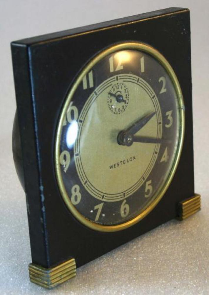 Westclox 1930s Tide Alarm Clock (Side View)
