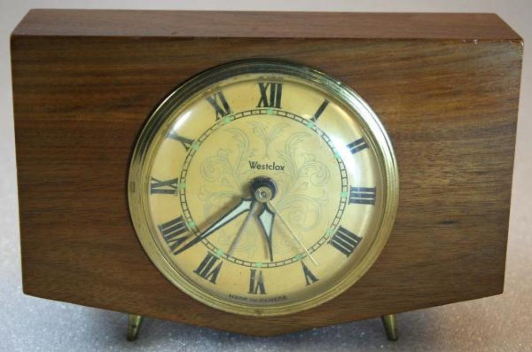 Westclox 1970s Wedgewood Alarm Clock