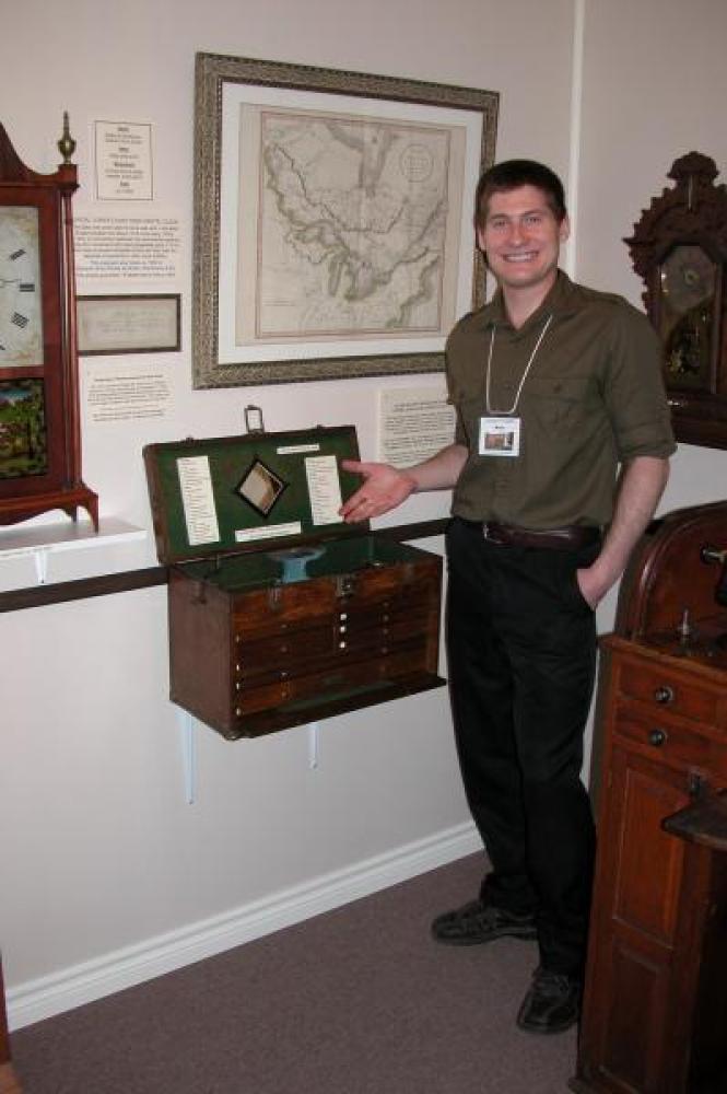 Nick Speranzini, 2012 summer student, who set up the hand tools display.