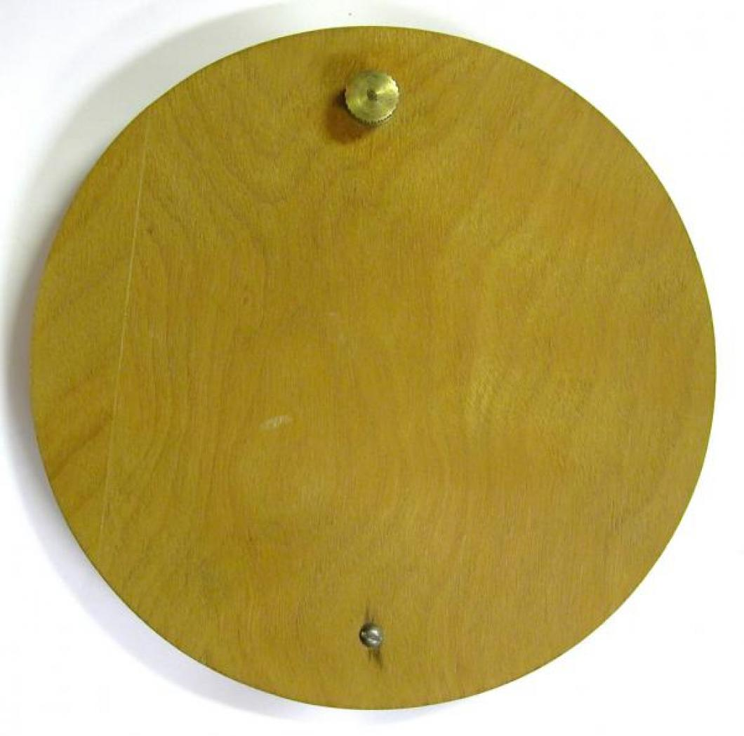 The outside of the postwar removable round back door.