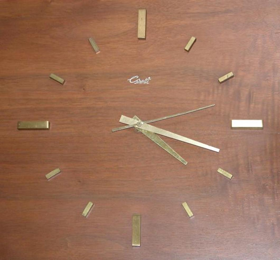 """The """"brass bars"""" hours markers for the dial of Girotti wood panel wall clocks"""