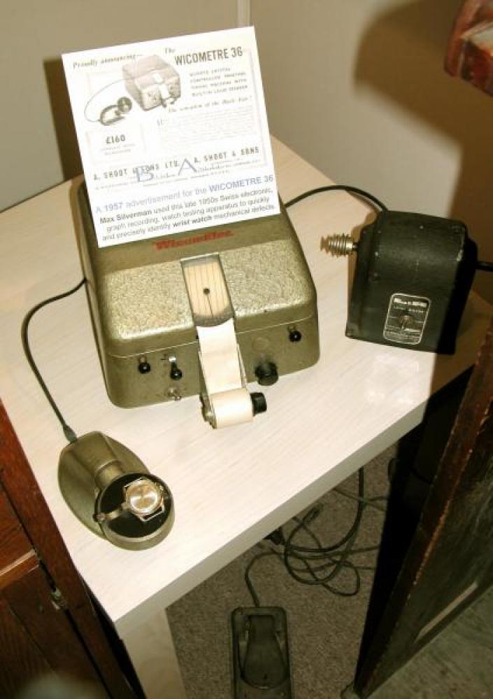 Max Silverman's late 1950s WICOMETRE 36 wristwatch testing instrument