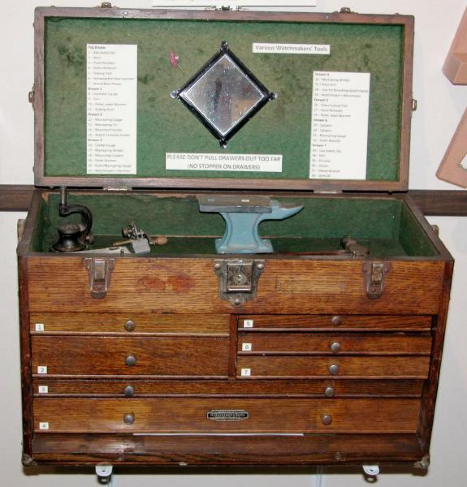 1950s Gerstner oak tool chest for old tools display