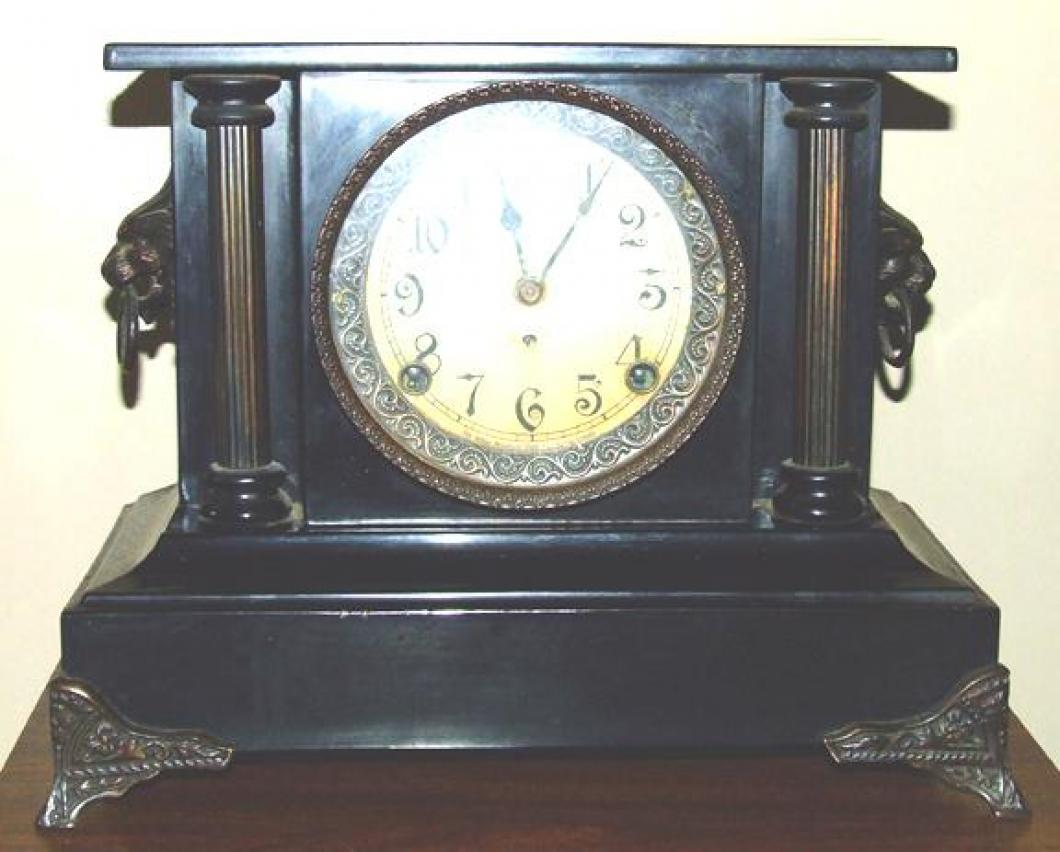 The front of the FIRST confirmed (2006) PREMIER model Pequegnat mantel clock
