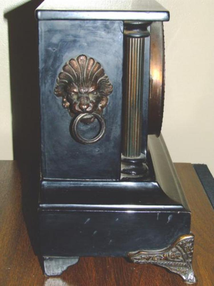 Left side of the FIRST confirmed (2006) PREMIER model Pequegnat mantel clock