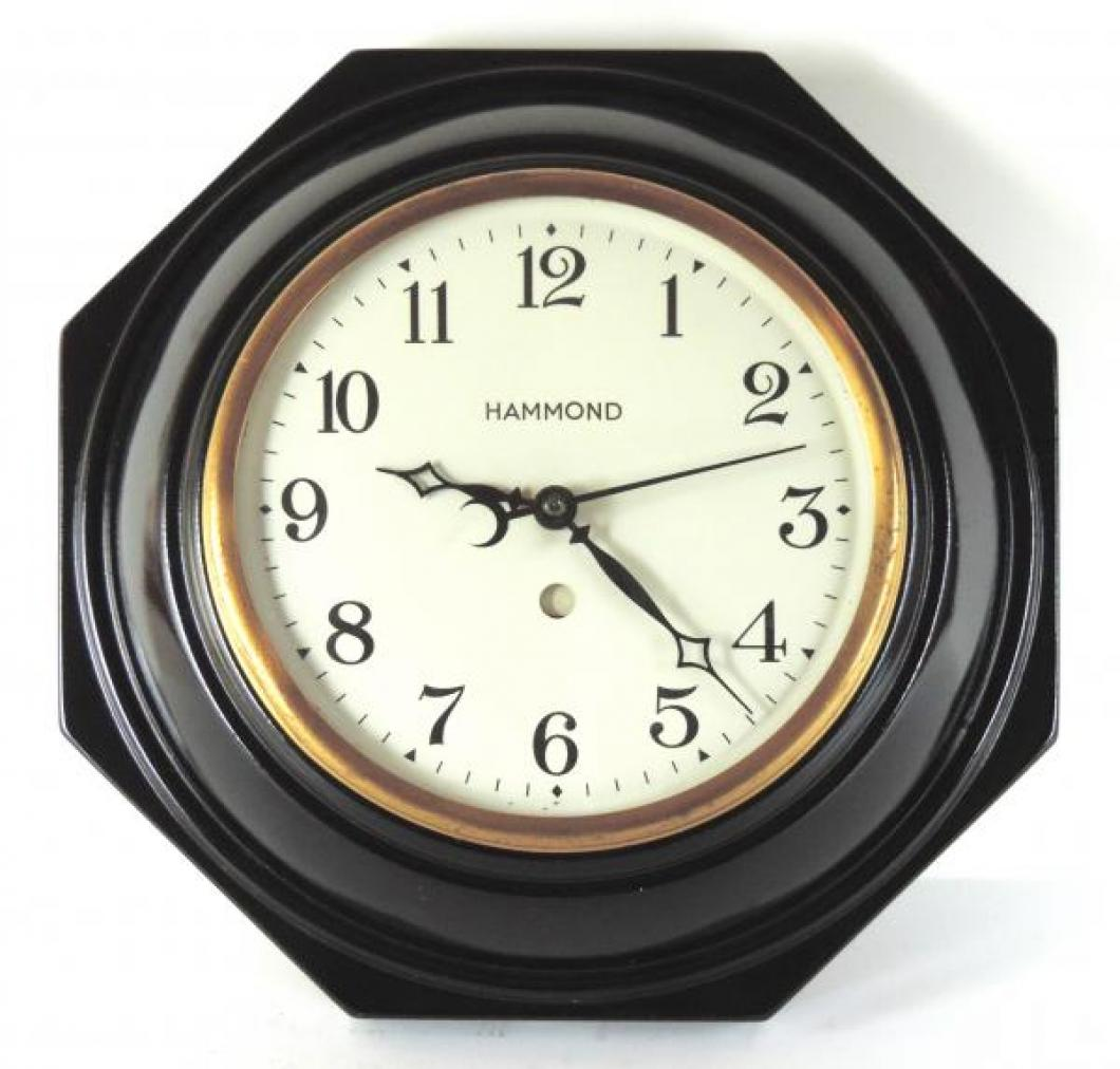 PANDORA model electric wall clock, painted metal case.