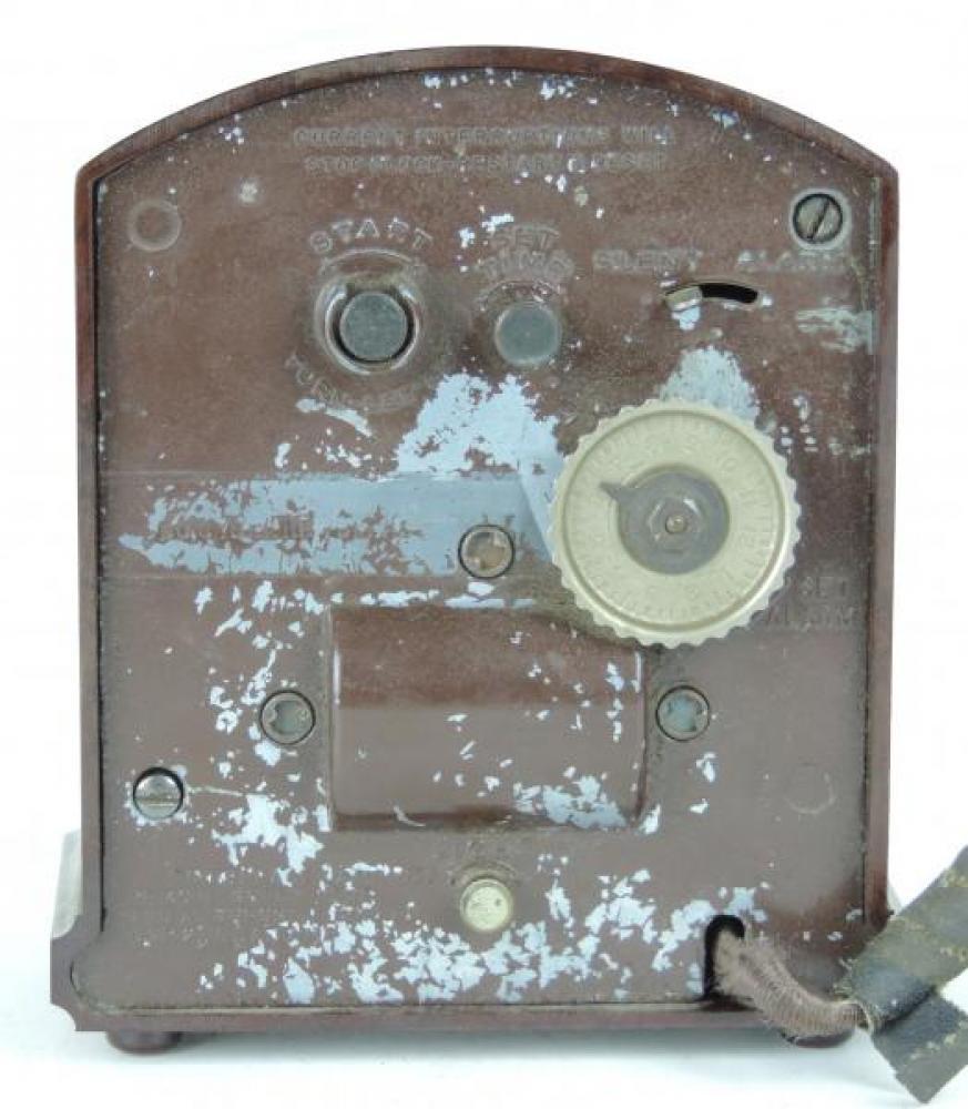 HAMMOND JUNIOR brown plastic case BACK with knurled alarm set knob