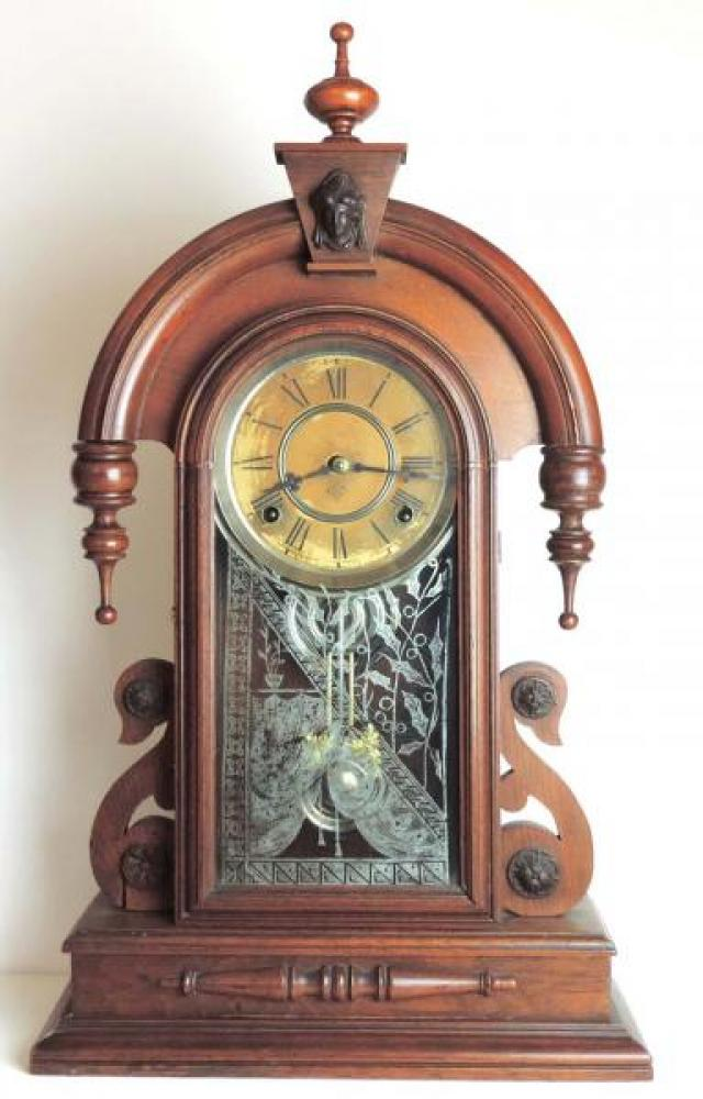 Canada Clock Company (Hamilton) DOMINION model mantel clock FRONT