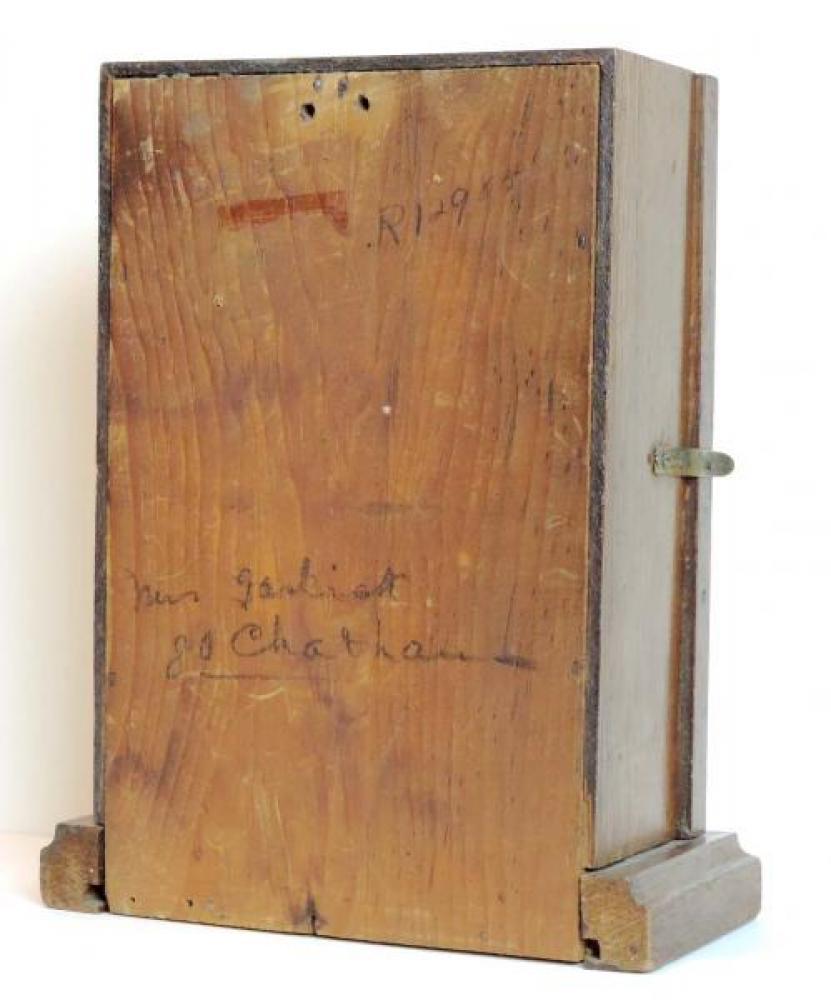 Canada Clock Company (Hamilton) GEM model mantel clock BACK
