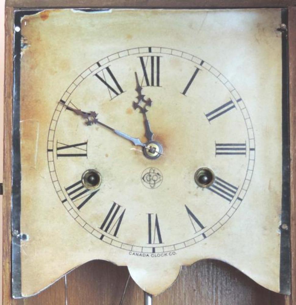 Canada Clock Company (Hamilton) HERO model mantel clock DIAL
