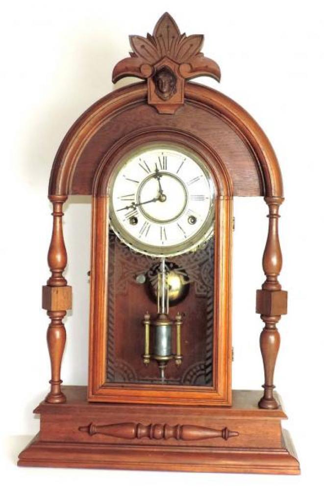 Canada Clock Company (Hamilton) ONTARIO model mantel clock FRONT