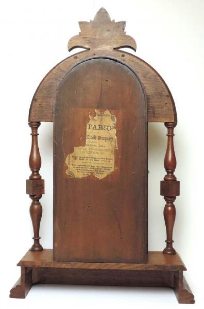 Canada Clock Company (Hamilton) ONTARIO model mantel clock BACK