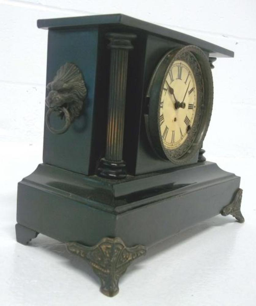 Left side of the THIRD confirmed (2017) PREMIER model Pequegnat mantel clock