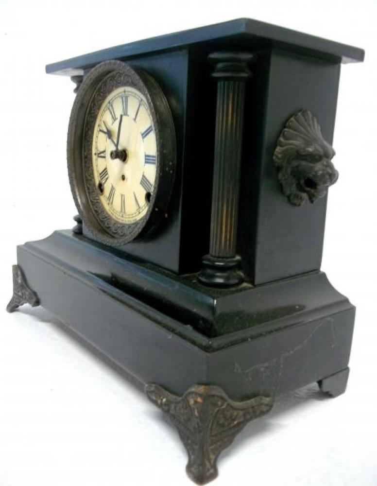Right side of the THIRD confirmed (2017) PREMIER model Pequegnat mantel clock