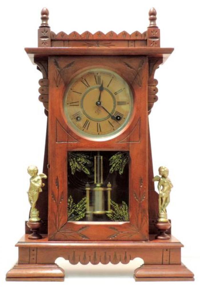 Canada Clock Company, Hamilton CITY of HALIFAX model mantel clock FRONT