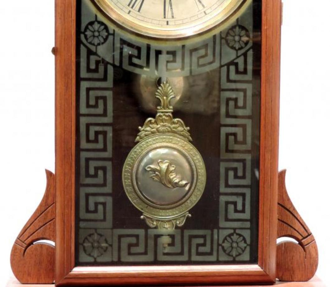 Canada Clock Company, Hamilton PEMBINA model mantel clock TABLET & fancy BOB
