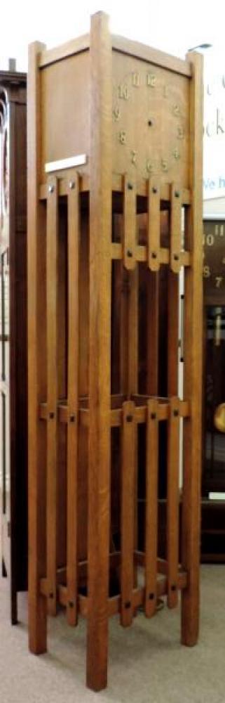CANADA model hall clock, oak case, movement & hands removed (Berlin period)