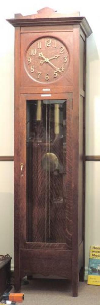 HALIFAX model hall clock, oak case