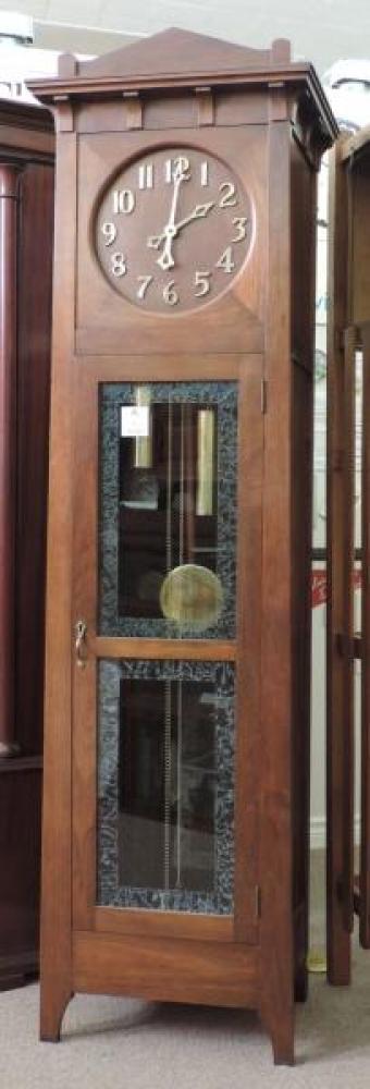 VERNON model hall clock, walnut case (Kitchener period)