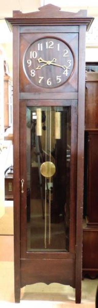HALIFAX model hall clock, mahogany case