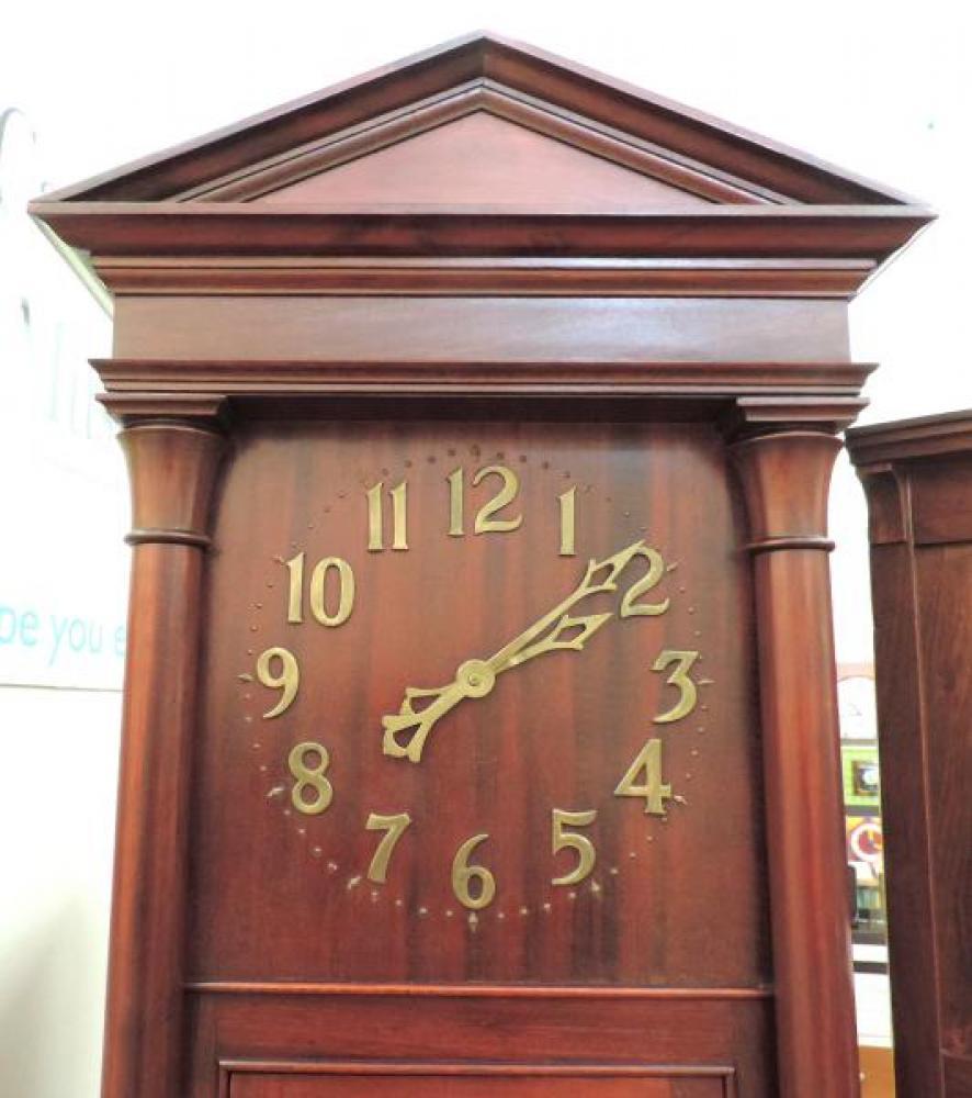 DIAL closeup ALBERTA model hall clock, mahogany case