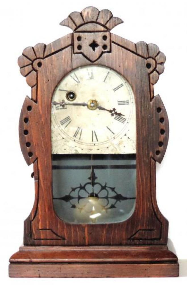 Canada Clock Company Hamilton METROPOLITAN model one day clock FRONT