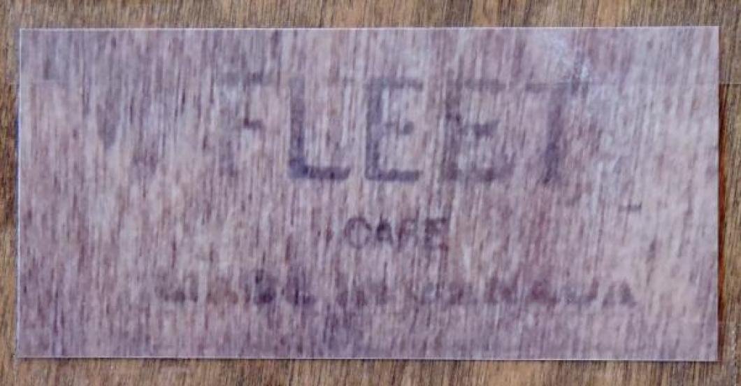 label inside back door for plain wood box case mantel clock