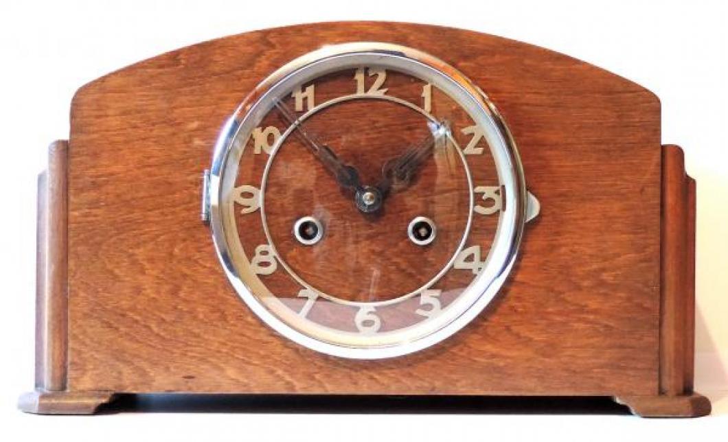 humpback time & strike mantel clock DONATED 2018