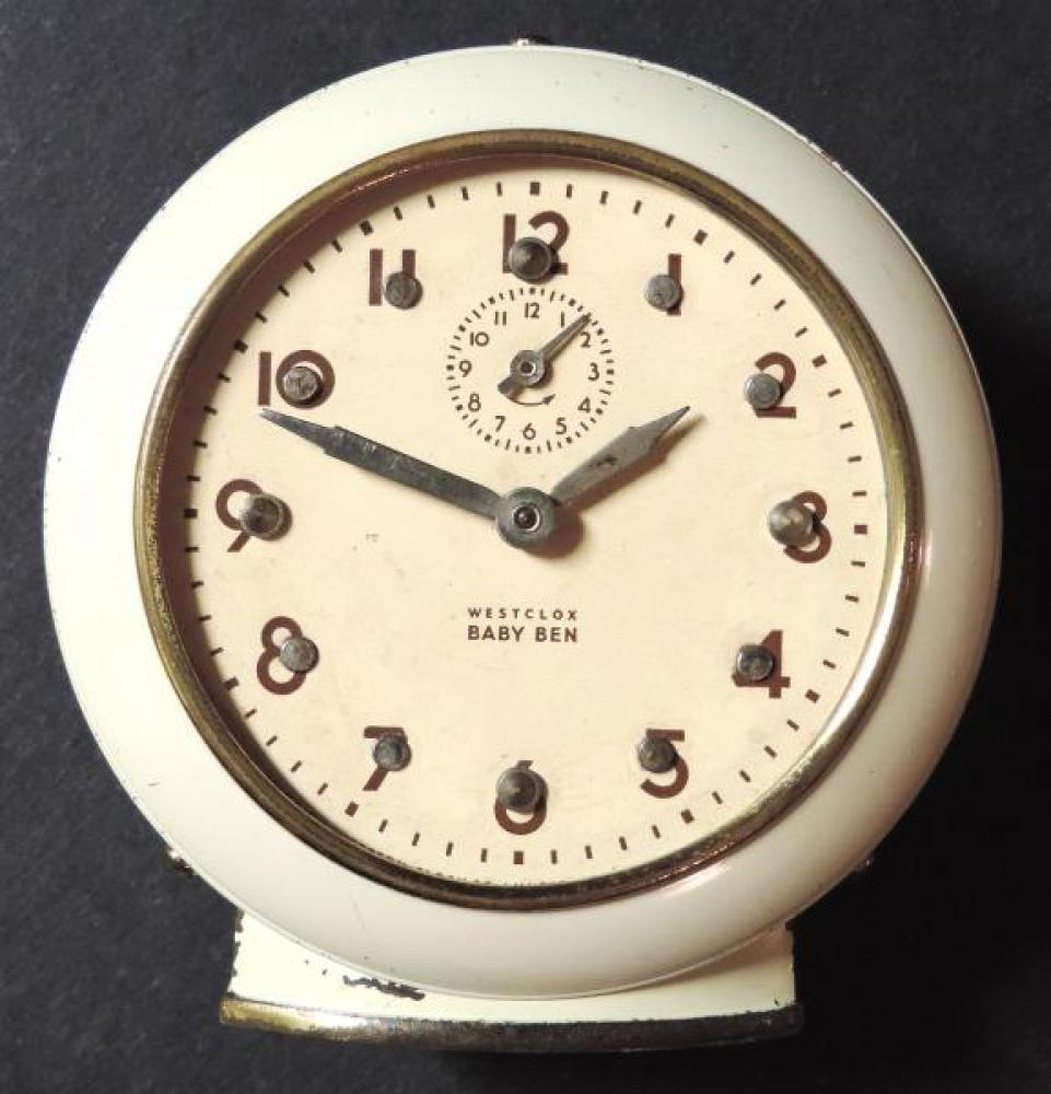 Westclox Peterborough early 1950s Braille Baby Ben alarm clock